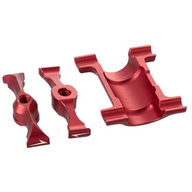 KCNC Carbon Saddle Rail Support Kit Ø27,2mm for Ti Pro Lite red